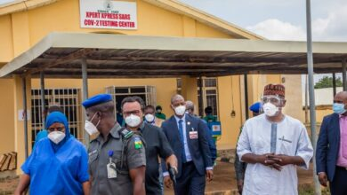 "Photo of ""We are not out of  wood yet"" Governor AbdulRazaq to Frontline Health Workers"