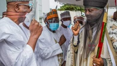 Photo of PHOTOS: Emir of Kano visits Kwara State Governor