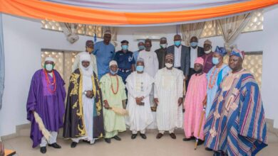 Photo of Six Traditional Rulers Presented Letters of Appointment by Kwara State Government.